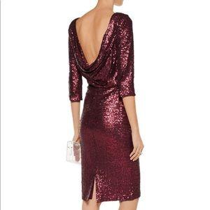 Badgley Mischka Merlot Sequin Sheath Dress